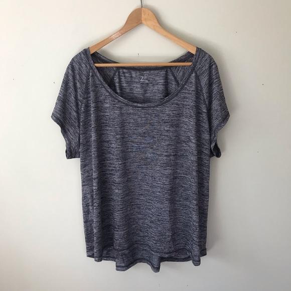 Zella Tops - Zella Space Gray Short Sleeve Active T Shirt Top